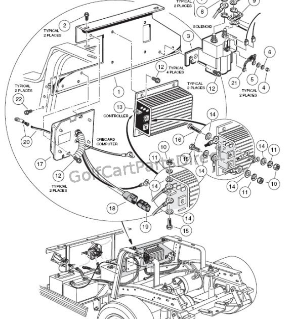 19861991 Club Car Ds Electric Vehicle Repair Manual