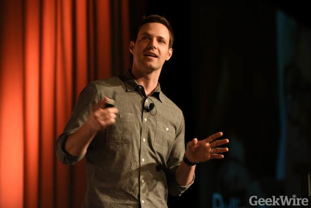 Nick Huzar speaks at 2016 GeekWire Startup Day