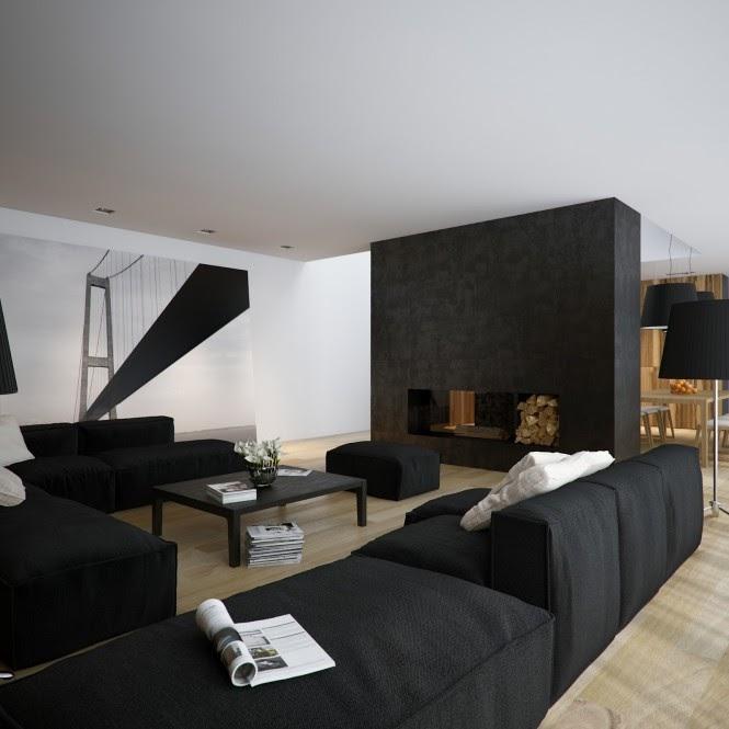 Cool Design Minimalist Black And White Living Room Photos