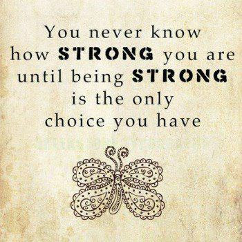 How Strong You Are Quote Picture