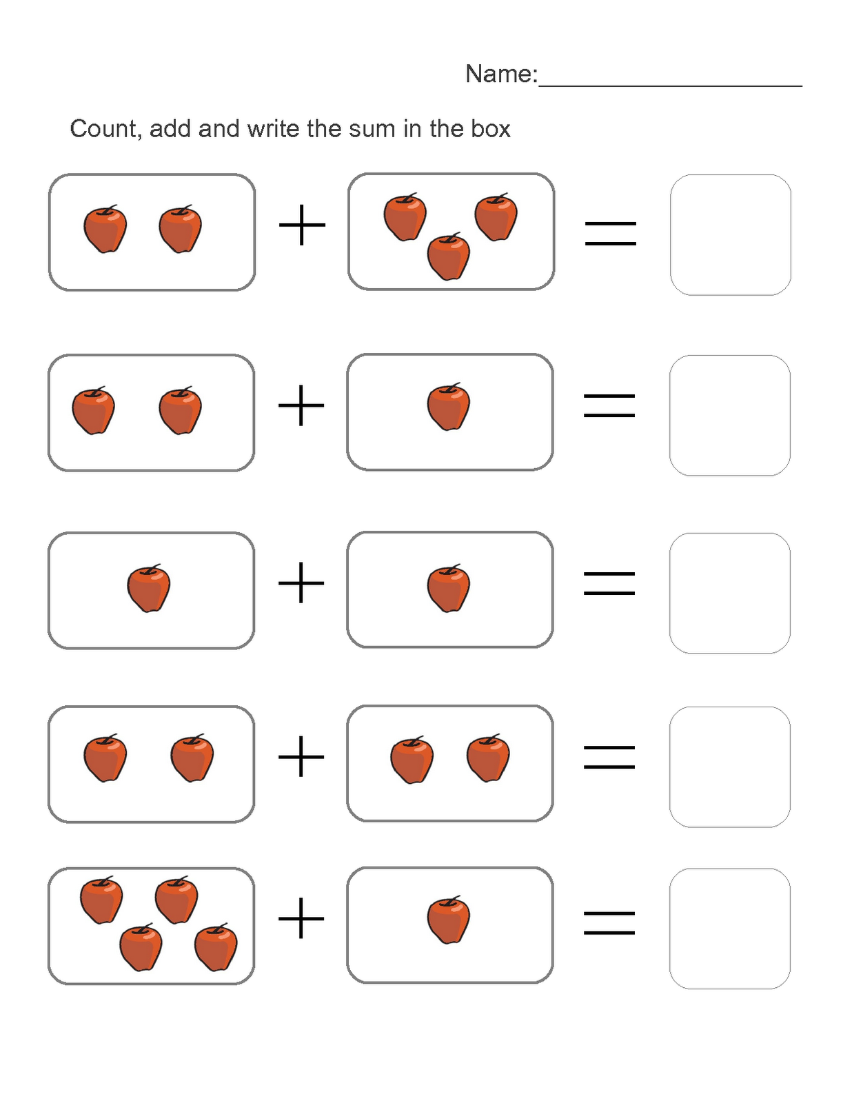 picture math worksheets addition