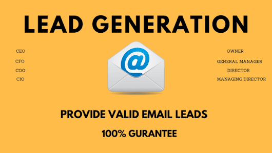 allinexpert : I will provide lead generation work for valid leads for $150 on www.fiverr.com
