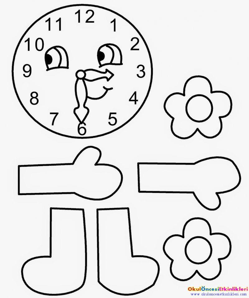 çocuklara Saat Kavrami Nasil öğretilir Okul öncesi Etkinlikleri