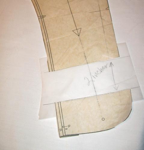 Aqua jacket pattern piece 1