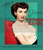 7 days of vintage bangs classic hollywood retro hair tutorials