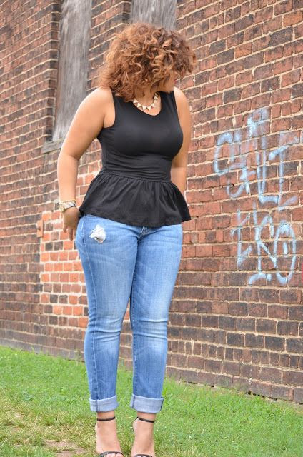 Loving the peplum. This is my favorite new trend. So figure flattering for us plus size girls