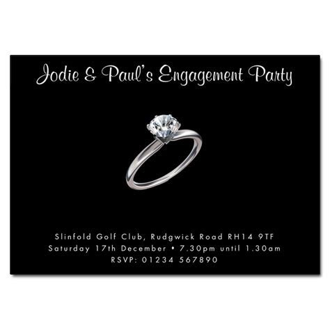 Diamond Ring Engagement Party Invitation   Engagement