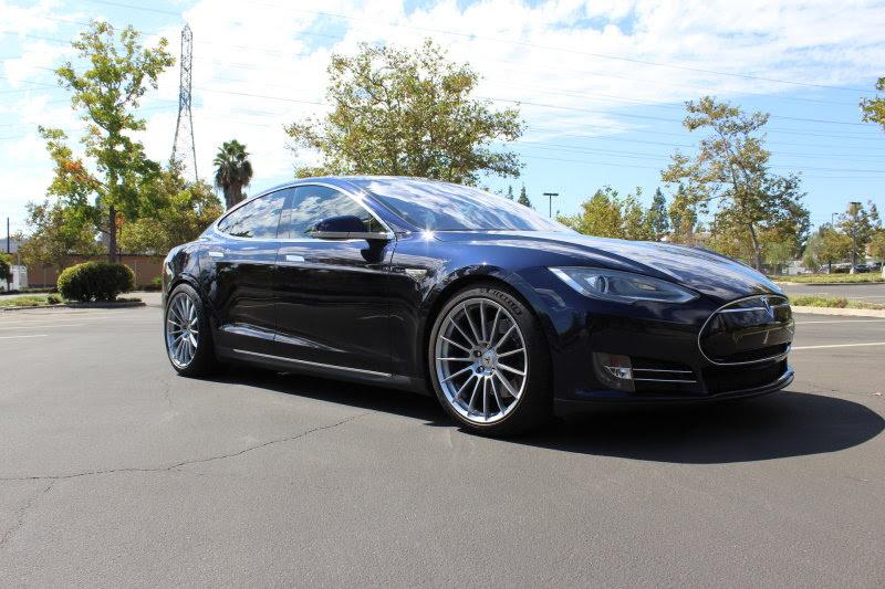 Socal 2013 Model S P85 Cpo Warranty Bluetan Hre Wheels