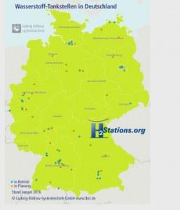 Wasserstoff-Tankstellen in Deutschland / Pressebild: TÜV SÜD
