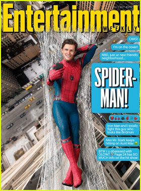 Tom Holland Covers 'Entertainment Weekly' as Spider-Man