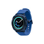 Samsung Gear Sport SM-R600 - Smart Watch with Heart Rate Monitor - L, - Blue