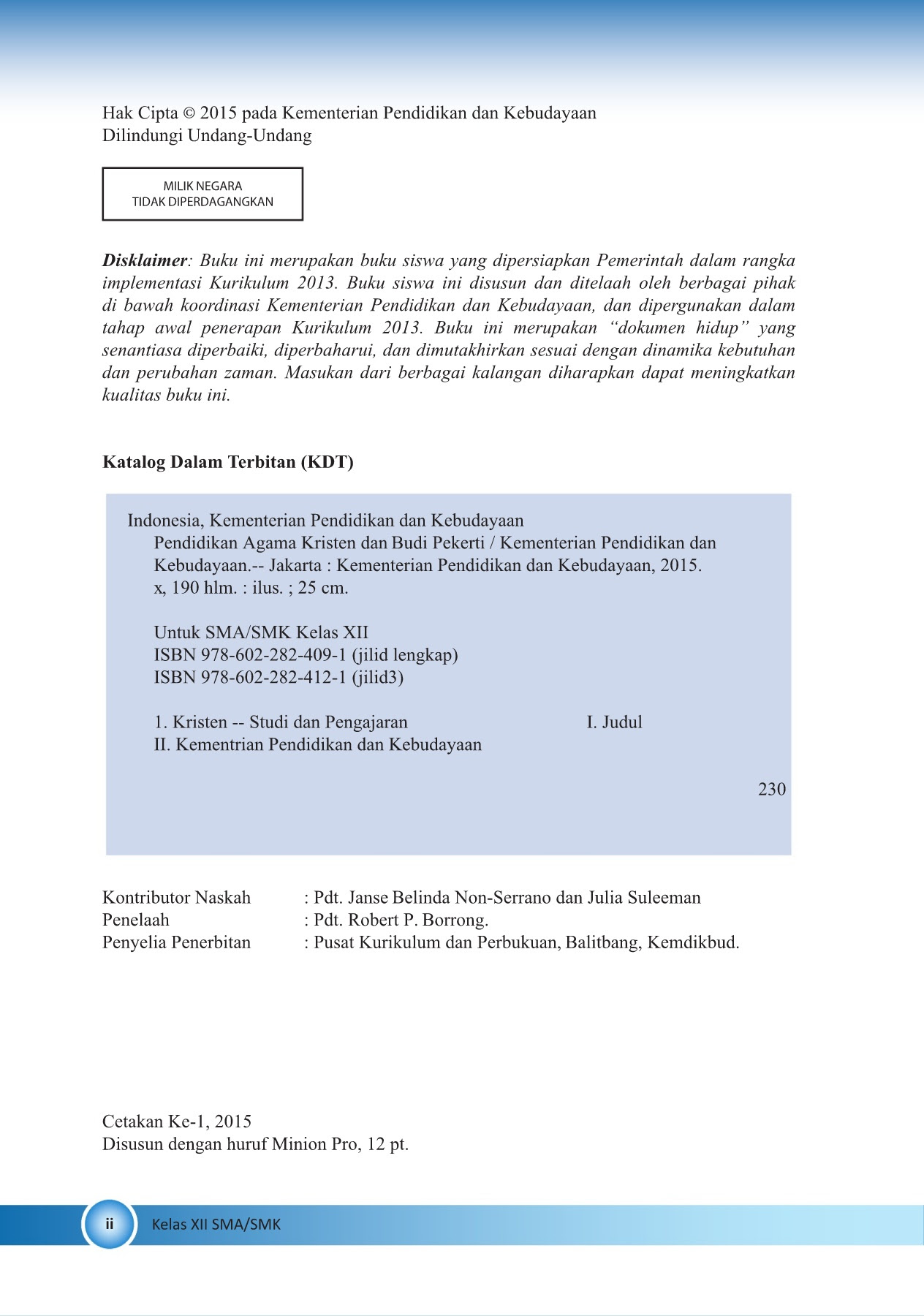 Kelas 12 SMA Pendidikan Agama Kristen dan Budi Pekerti Siswa Pages 151 200 Text Version