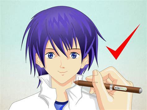 comment dessiner  visage de manga homme  etapes