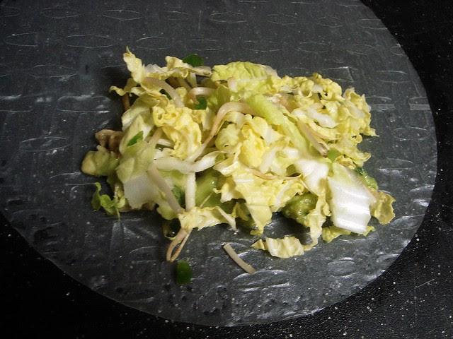 Vegetarian Avocado-Mushroom Spring Rolls