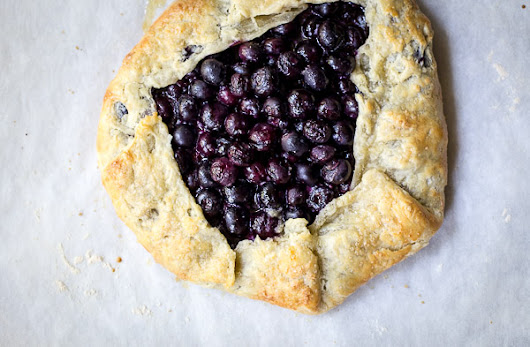 blueberry galette | the merry gourmet