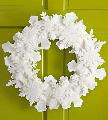 Felt Snowflake Wreath