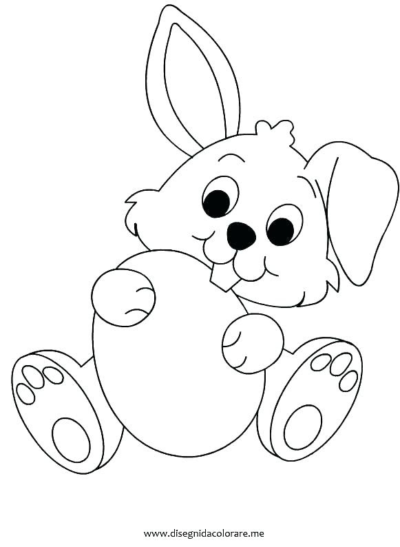 Easter Bunny Face Coloring Pages at GetColorings.com ...