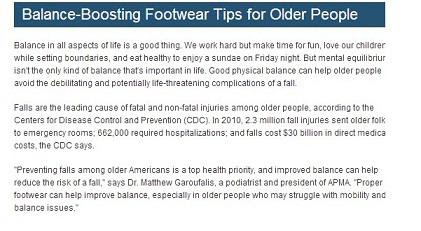 APMA Advises Seniors to Ask a Lansdale Podiatrist in Choosing Footwear