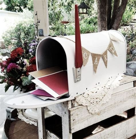 50 Charming Mailbox Wedding Décor Ideas   Mail boxes