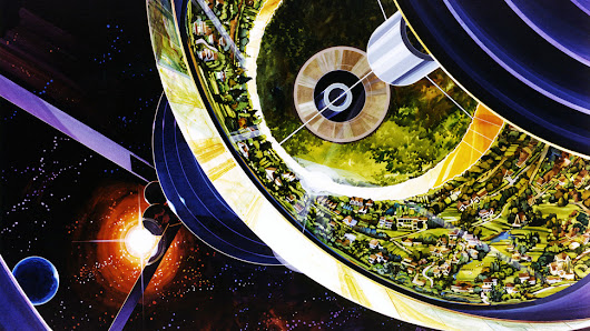 Stunning concept art reveals NASA's 1970s vision for humanity in space