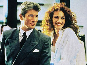 Julia's 1990 breakthrough film Pretty Woman with Richard Gere