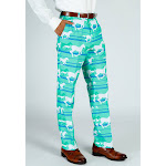 The Foal Throttle | Turquoise Derby Pants | White | Shinesty