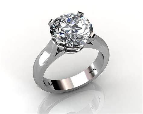 Round Cut Diamond Solitaire Engagement Wedding Ring South
