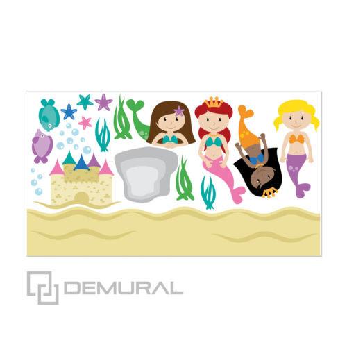 Behangrollen Sticker Aufkleber Meerjungfrau Sdb8 Baby Wandtattoo Furs Kinderzimmer Doe Het Zelf Sman1merawang Sch Id