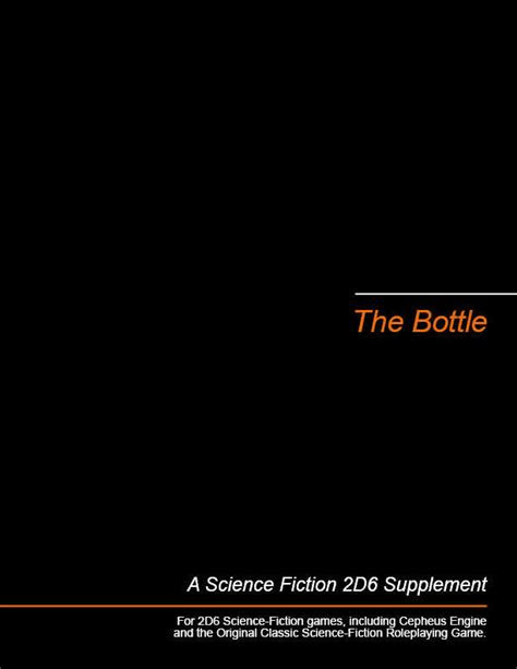 The Bottle - Michael Brown | 2D6 SF Adventures