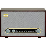 QFX RETRO-100 Radio - Gray/Wood