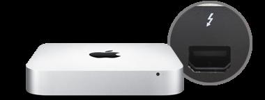 Mac mini con tecnología Thunderbolt