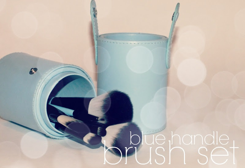 Tmart 8 piece blush set blue handle (39)