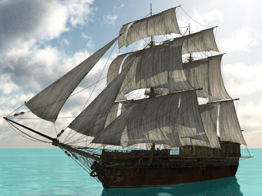 The Brigantine Ship: Black Opal