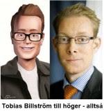 Tobias Billström med sin tvillingbrorsa