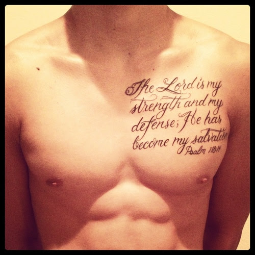 Chest Bible Verse Tattoos Tattoo Bytes