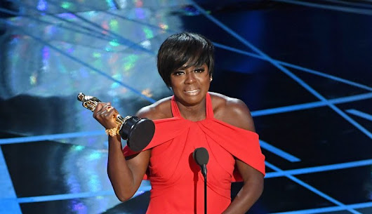 Viola Davis Delivers Another Touching Speech On Her First Oscar Win - Actress in a Supporting Role