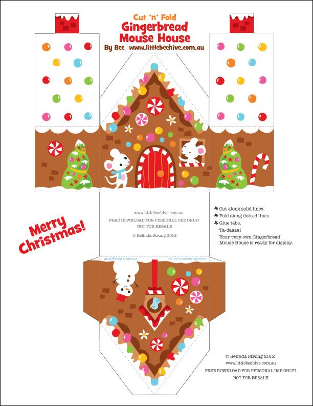 Moderno Casa De Jengibre De Navidad Para Colorear Motivo - Páginas ...