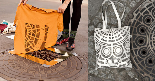 Pirate Printers: Shirts and Totes Printed Directly on Urban Utility Covers
