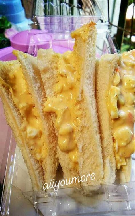resepi sandwich telur coleslaw sesuai  sarapan