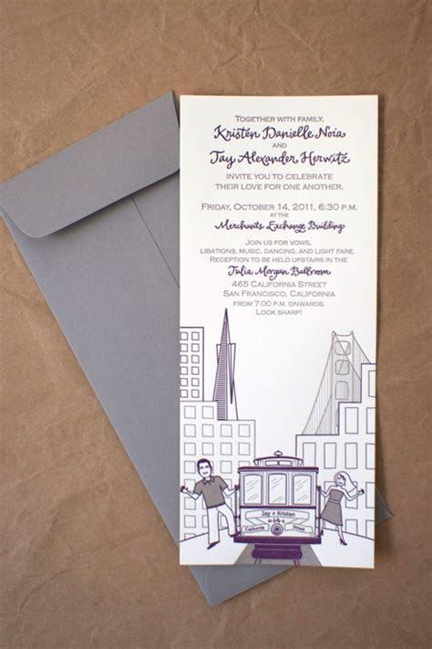 Kristen   Jay's Modern Illustrated San Francisco Wedding