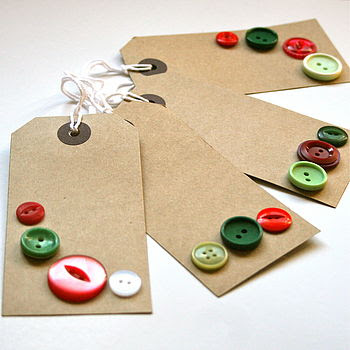 buttons on gift tags