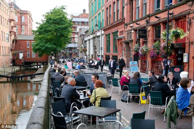 Gay scene: Mr Brass was killed at a notorious 'cruising' spot close to Manchester's Canal Street, pictured