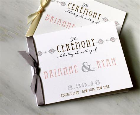 Elegant Ceremony Programs, Small Wedding Ceremony Booklet