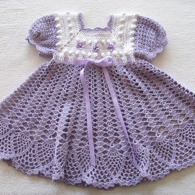 I love this dress for spring. #crochet #crochetpattern #babydress #dress #patterns  #patternparadise