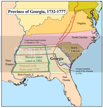 early map of the Colony of Georgia