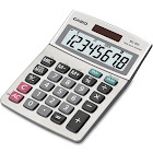 Casio MS-80S Desktop Calculator - 8 Digits - Silver Metallic