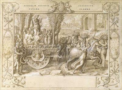 Nicolo dell'Abate sketch - The Unicorn Chariot