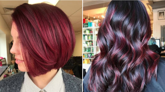Cranberry Red Is the Sauciest Hair-Color Trend of the Holiday Season