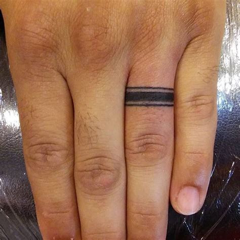 40  Awesome Finger Ring Tattoos for Men and Women #