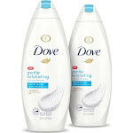 Dove Gentle Exfoliating Body Wash 22 oz, Twin Pack